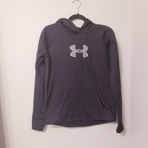 Under armour black hoodie with thumbholes. Size m